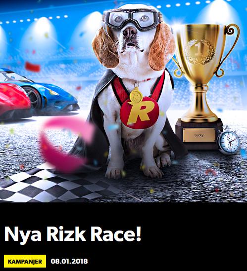 Rizk Nytt Race Vinn 10 000