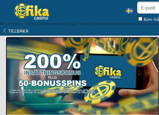 Fikacasino Fredag Booster Bonus
