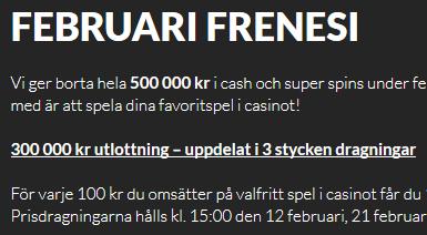 Guts casino FEBRUARI FRENESI
