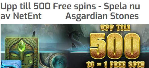 Lapalingo 500 freespins (1 freespin per 1 €)