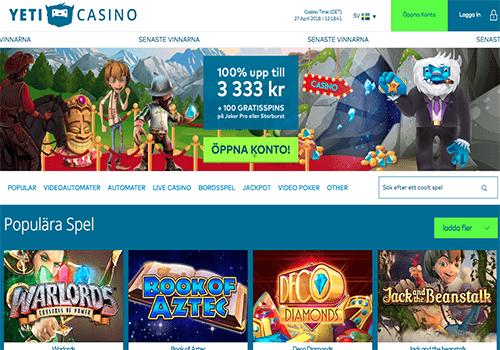 Svenska casino med faktura