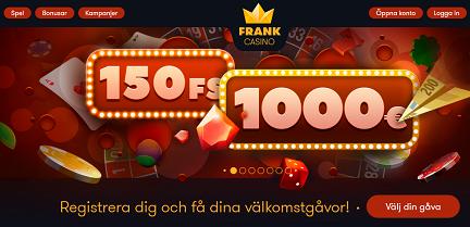 Nätcasino Frank Casino Födelsedagspresent