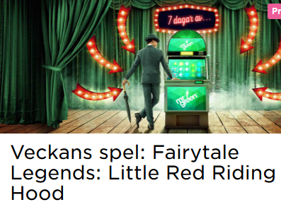Nätcasino MrGreen Freespins Veckans spel: Fairytale Legends: Little Red Riding Hood