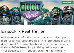 Nätcasino MrGreen - En spöklik Reel Thriller med 1000+ freespins att vinna av!