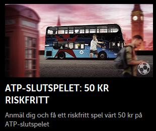 Nätcasino Betsafe - 50 kr riskfritt spel på ATP-Slutspelet!