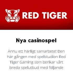 Spela 5 nya casinospel från spelutvecklare Red Tiger på Betser!