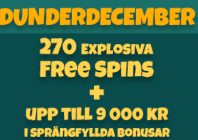 Nätcasino MrSuperPlay - December Dynamite - 90 Freespins och 30% bonus!