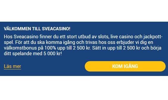 Få upp till 170 freespins när du öppnar dagens lucka hos Svea Casino!