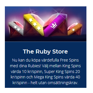 Köp freespins i The Ruby Store på Casino Heroes!
