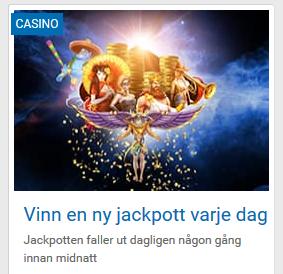 Vinn dagens jackpott på Nordicbet innan någon annan gör det!