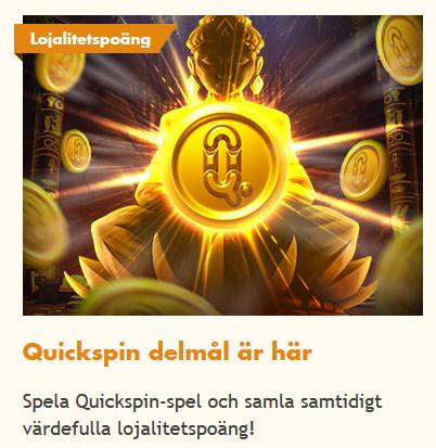 Vinn belöningar när du uppnår Quickspin delmål på Bertil!