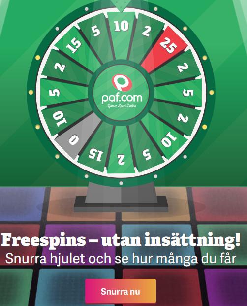 Klicka här så kan du snart vinna 77 freespins på Paf i Blackjack!