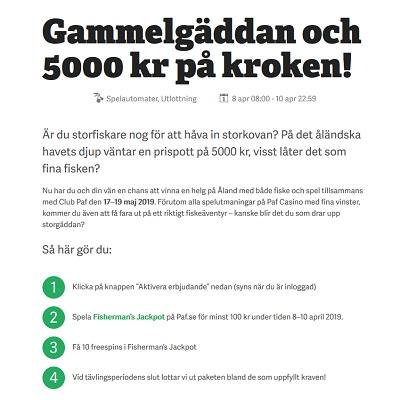 Fiskeresa till Åland + 5000 kr prispott på Paf!