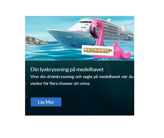 Vinn två veckor långa drömkryssningen på Medelhavet på Sverigeautomaten!