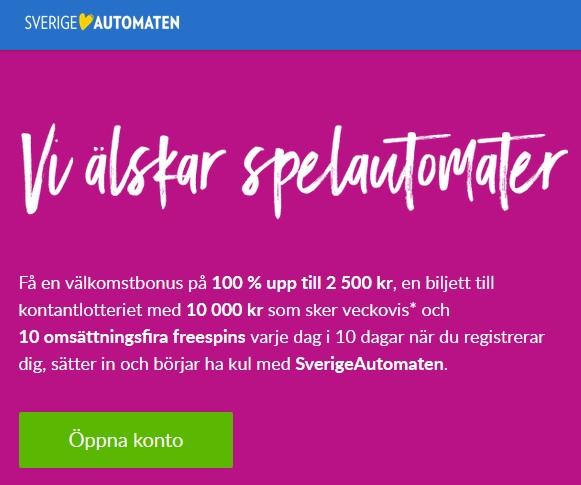Öppna konto på Sverigeautomaten och tävla om drömkryssningen!