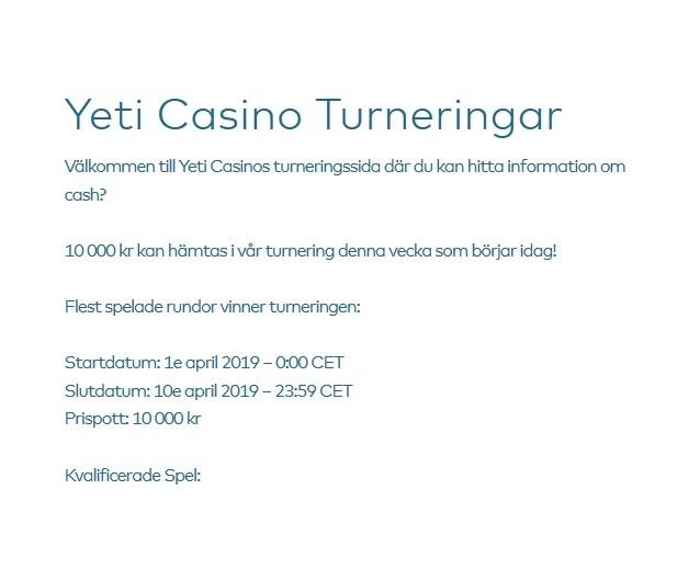 Tävla om 10 000 kr nu på Yeti Casino!