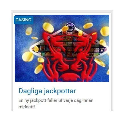 Spela dagliga jackpottar på NordicBet!