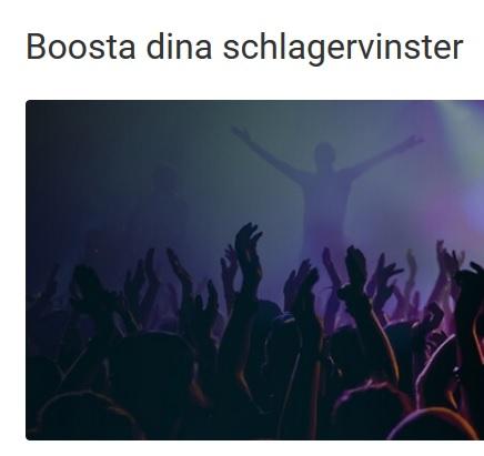 Få 25% vinstboost om Sverige vinner i Schalger hos Unibet!