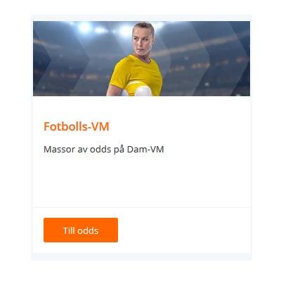 Nyttja exklusiva dam-VM odds hos Betsson!