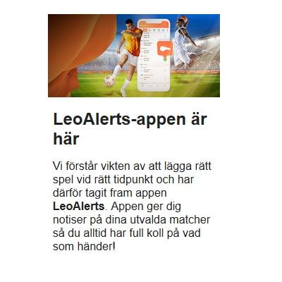Så använder du LeoAlerts appen från LeoVegas!