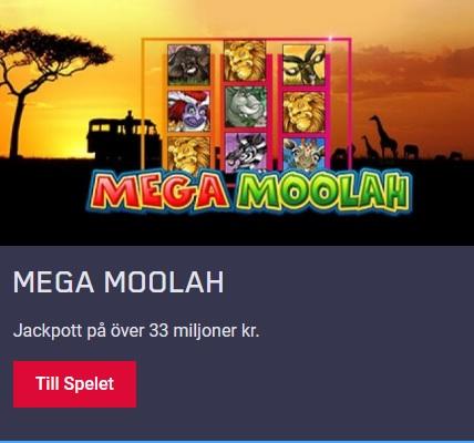Spela Mega Moolah och vinn 33 miljoner kronor på Maria Casino!