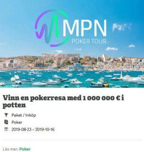 Paf Casino pokerresa till Malta värd kanske 1 000 000€!
