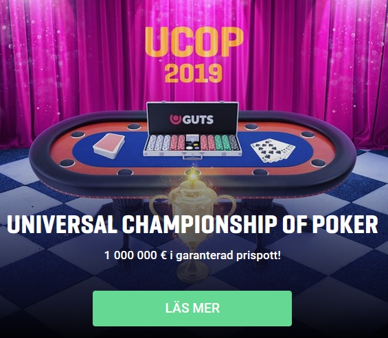 Vinn en plats till kommande Universal Championship of Poker via Guts!