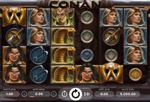 Spela nya slotsspelet Conan nu hos online casino Storspelare!