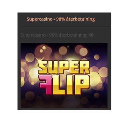 Hela 98% återbetalning på utvalda spel hos Storspelare!