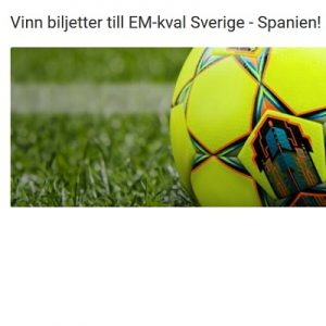 EM-Kval Sverige - Spanien - vinn biljetter dit på Unibet!