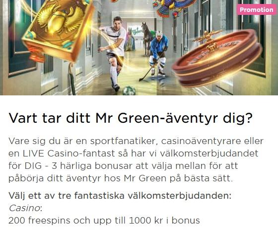 Klicka här och tävla om 10 000 000 kr på Mr Green!