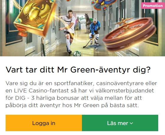 Delta i Mr Green Julkalender 2019 nu!