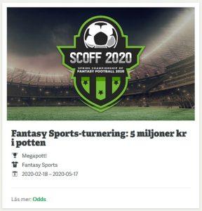 SCOFF 2020 med 5 miljoner kr hos Paf Casino!