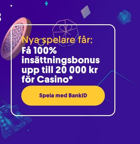 Upp till 20 000 kr bonus hos Casumo!