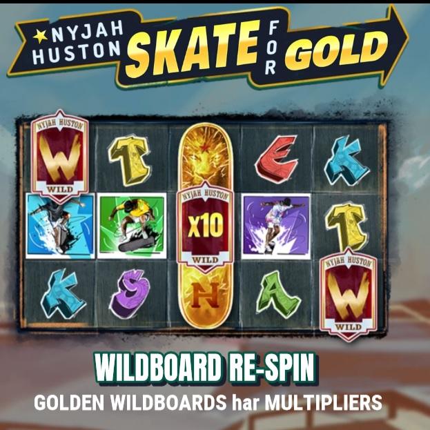 Spela Nyjah Huston Skate for Gold på Videoslots casino!